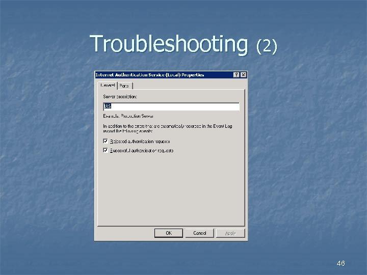 Troubleshooting (2) 46