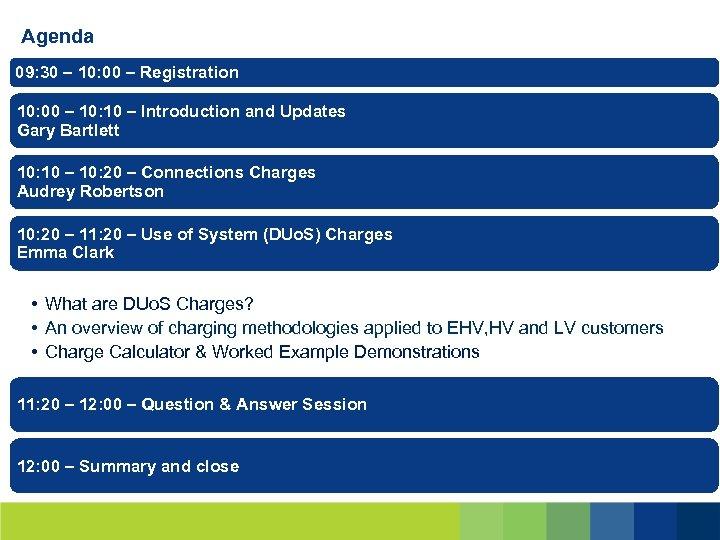 Agenda 09: 30 – 10: 00 – Registration 10: 00 – 10: 10 –