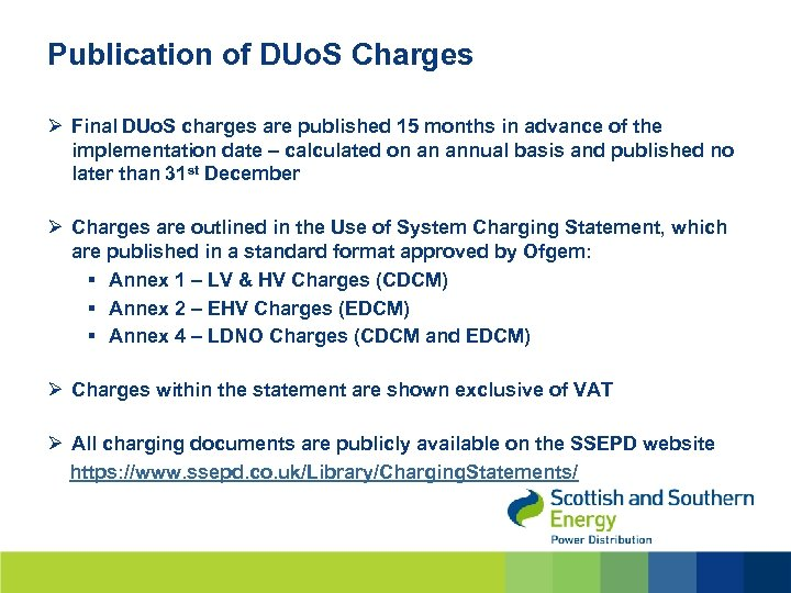 Publication of DUo. S Charges Ø Final DUo. S charges are published 15 months