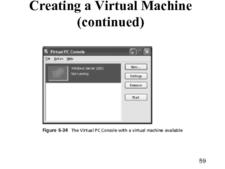 Creating a Virtual Machine (continued) 59