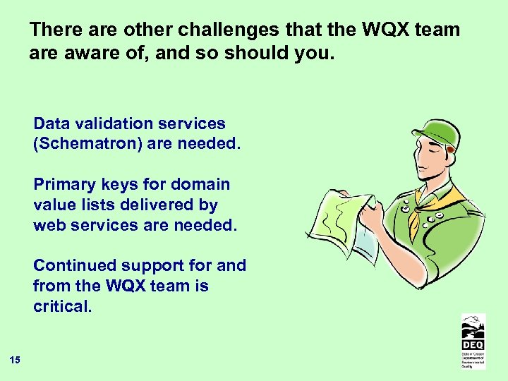 There are other challenges that the WQX team are aware of, and so should