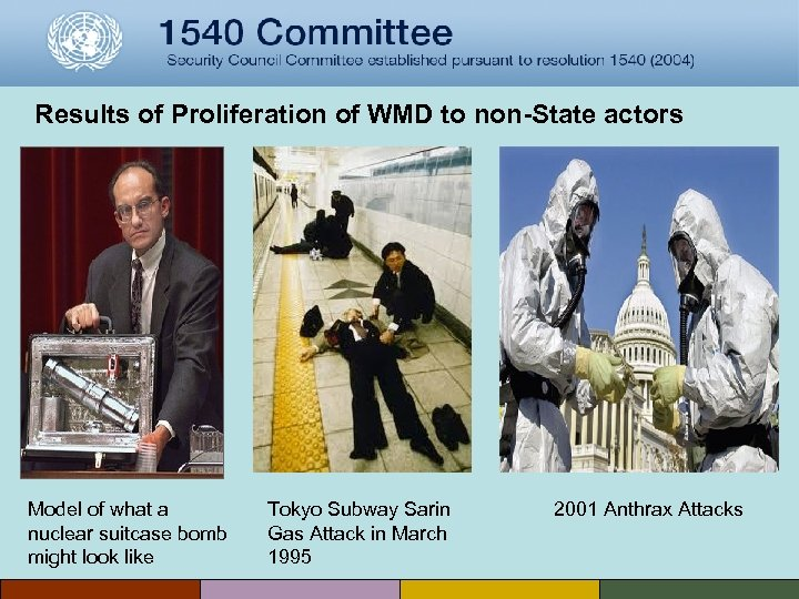 Results of Proliferation of WMD to non-State actors Model of what a nuclear suitcase