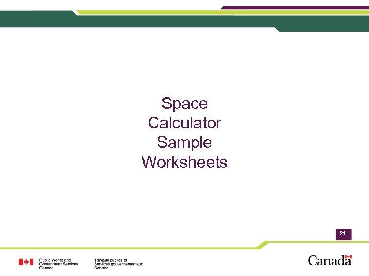 Space Calculator Sample Worksheets 21