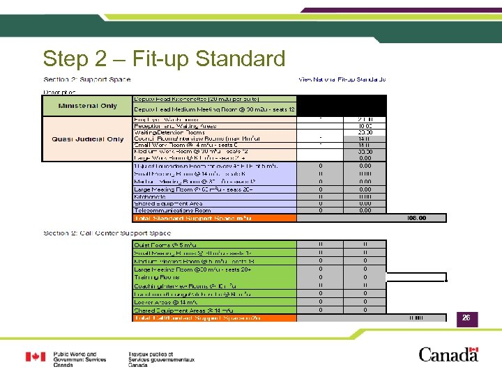 Step 2 – Fit-up Standard 26
