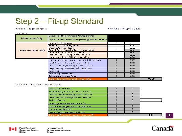 Step 2 – Fit-up Standard 26