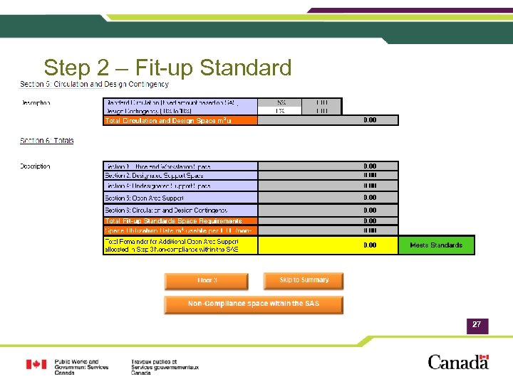 Step 2 – Fit-up Standard 27