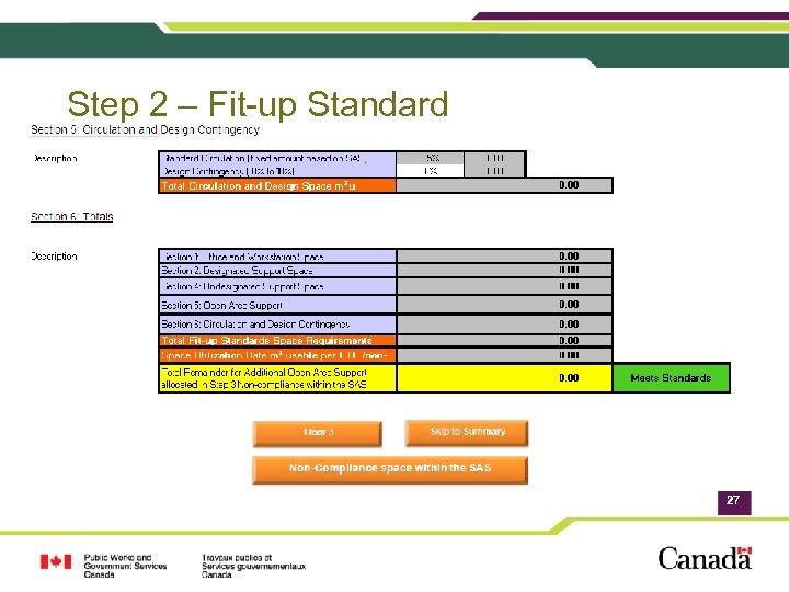 Step 2 – Fit-up Standard 27