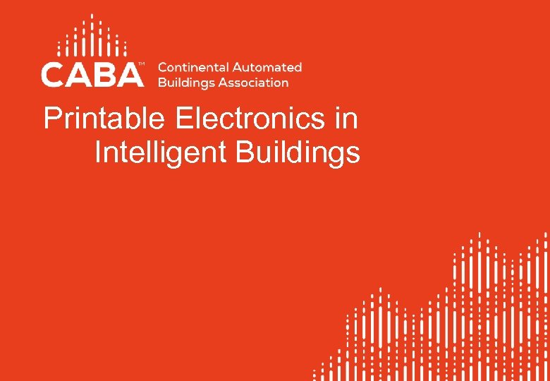 Printable Electronics in Intelligent Buildings