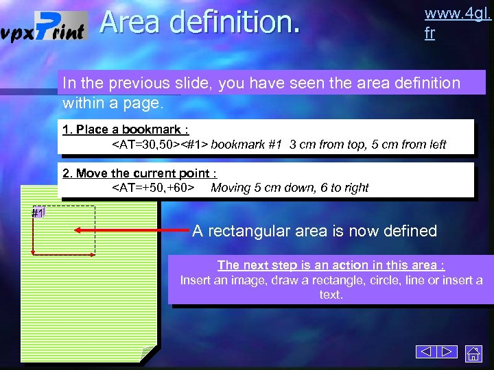 Area definition. www. 4 gl. fr In the previous slide, you have seen the