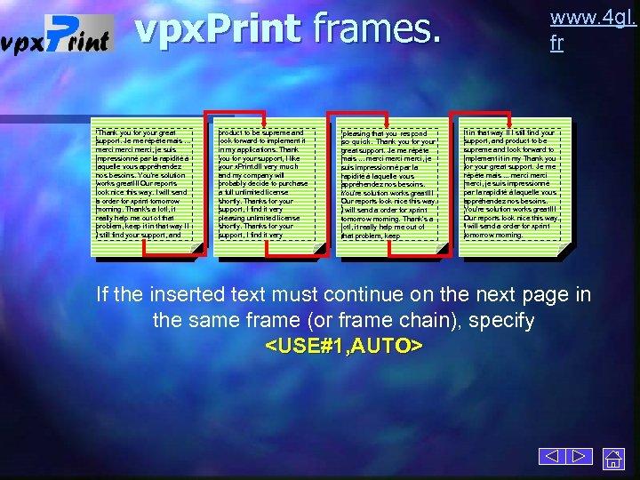 vpx. Print frames. Thank you for your great support. Je me répète mais. .