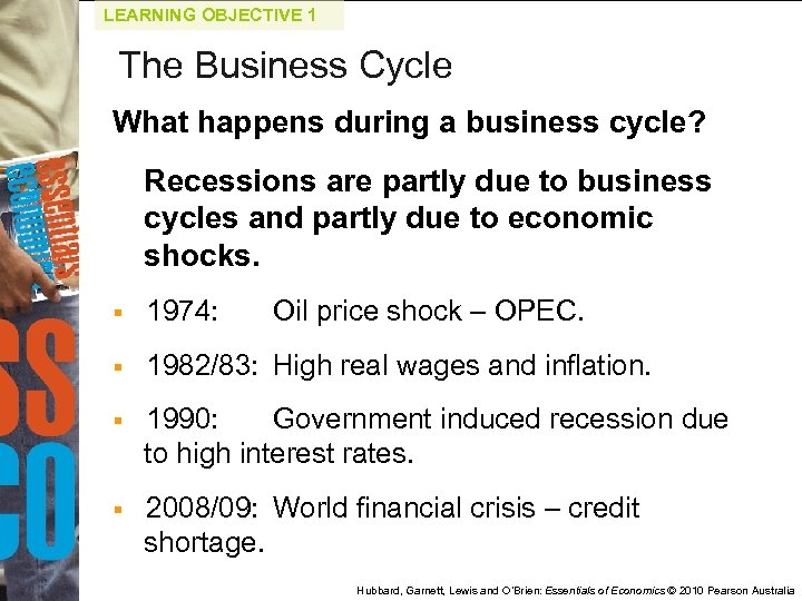 LEARNING OBJECTIVE 1 The Business Cycle What happens during a business cycle? Recessions are