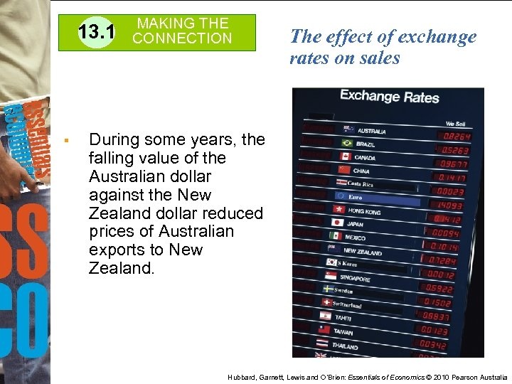13. 1 § MAKING THE CONNECTION The effect of exchange rates on sales During