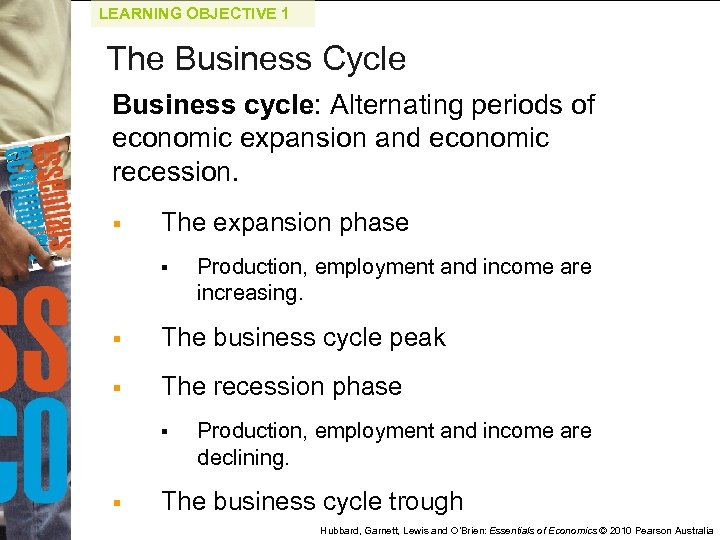 LEARNING OBJECTIVE 1 The Business Cycle Business cycle: Alternating periods of economic expansion and