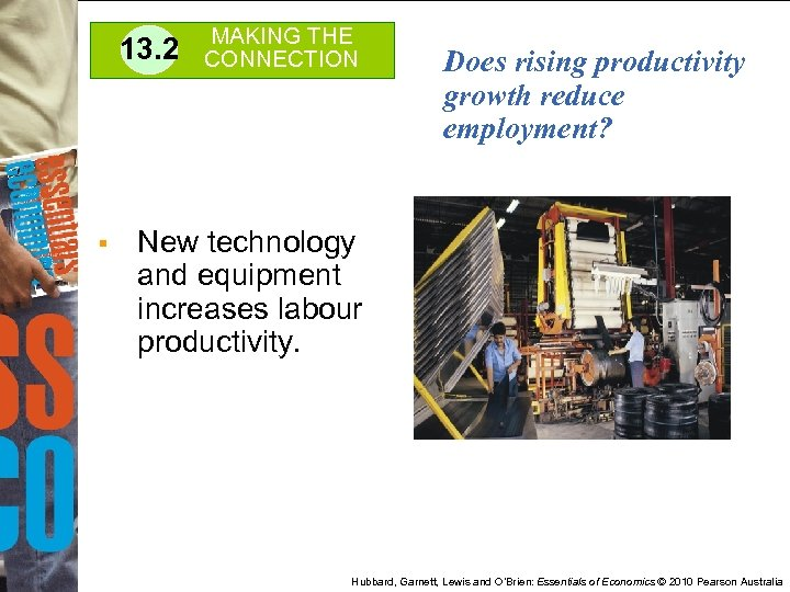 13. 2 § MAKING THE CONNECTION Does rising productivity growth reduce employment? New technology