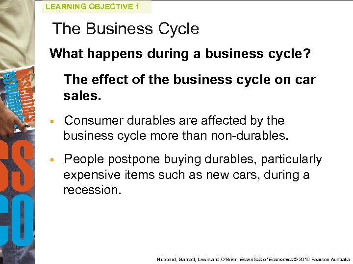 LEARNING OBJECTIVE 1 The Business Cycle What happens during a business cycle? The effect