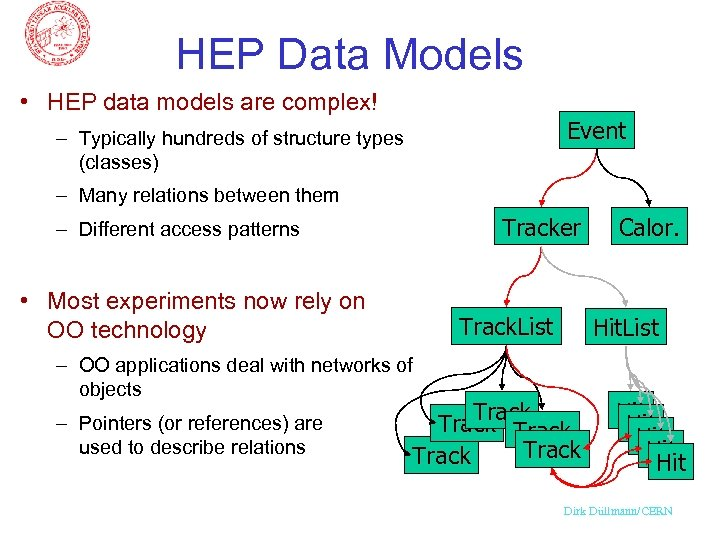HEP Data Models • HEP data models are complex! Event – Typically hundreds of