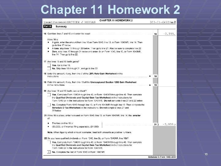 Chapter 11 Homework 2 16