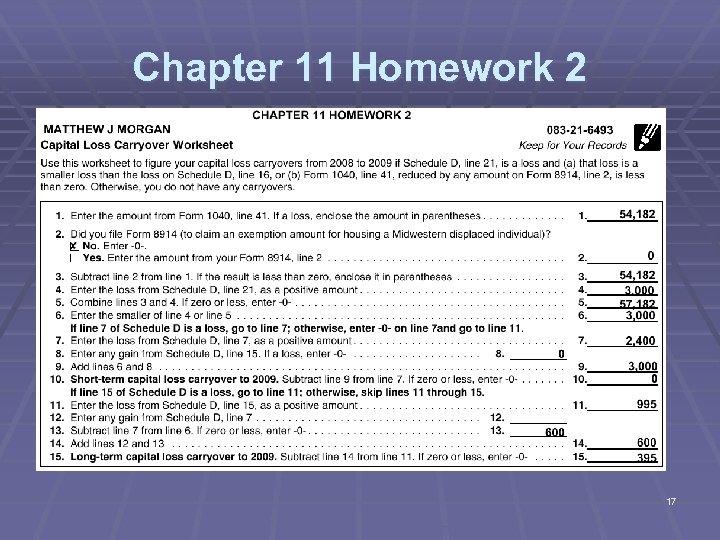 Chapter 11 Homework 2 17