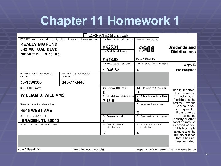 Chapter 11 Homework 1 4