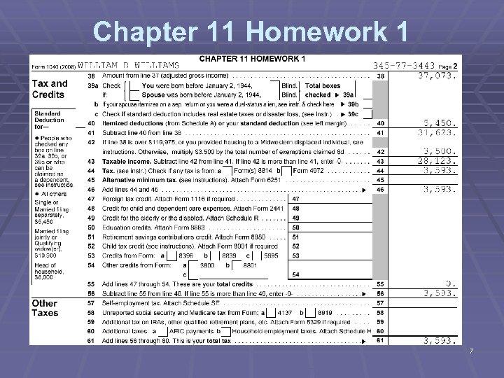 Chapter 11 Homework 1 7