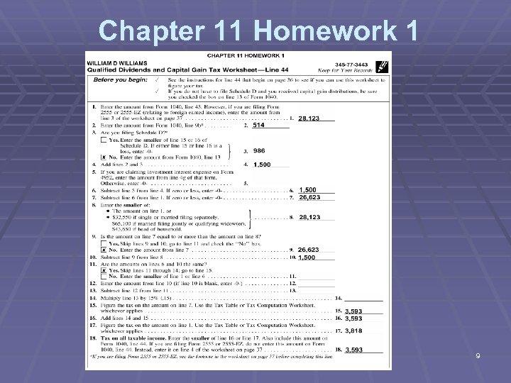 Chapter 11 Homework 1 9
