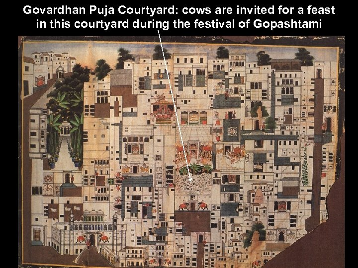 Govardhan Puja Courtyard: cows are invited for a feast in this courtyard during the