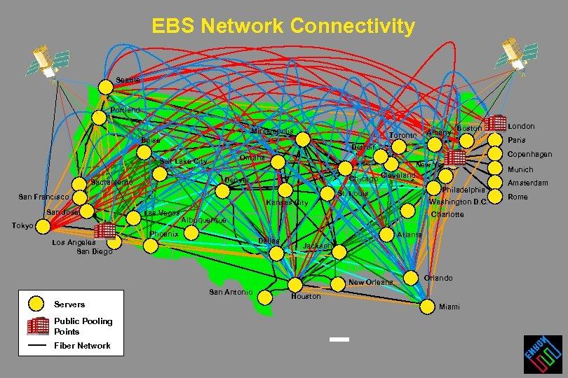 EBS Network Connectivity Seattle Portland Minneapolis Toronto Boise Tokyo New York Chicago Cleveland Denver