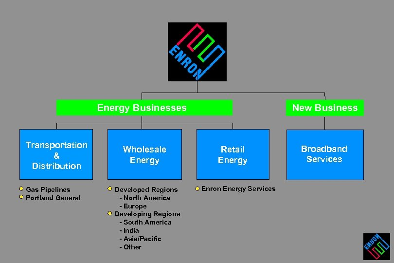 Energy Businesses Transportation & Distribution Gas Pipelines Portland General Wholesale Energy Developed Regions -