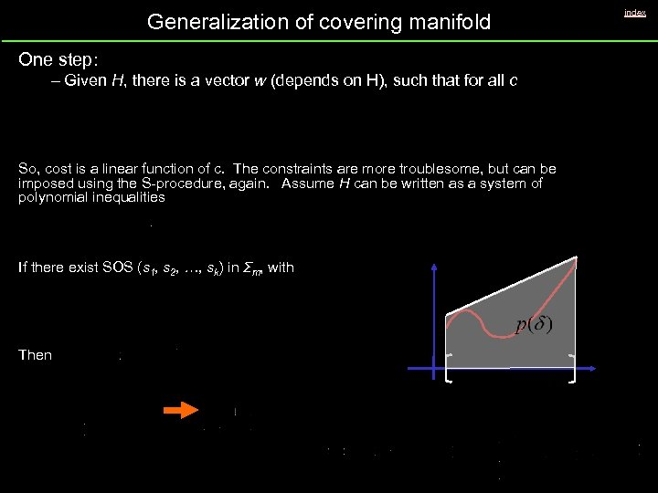 Generalization of covering manifold One step: – Given H, there is a vector w