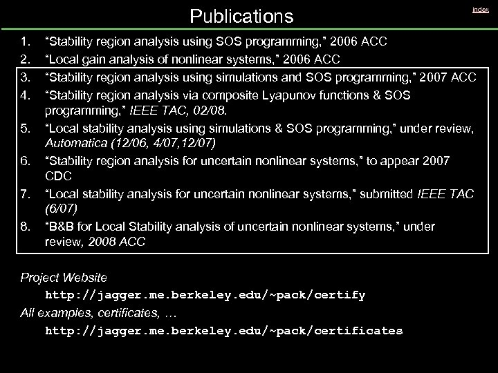"Publications 1. 2. 3. 4. 5. 6. 7. 8. index ""Stability region analysis using"