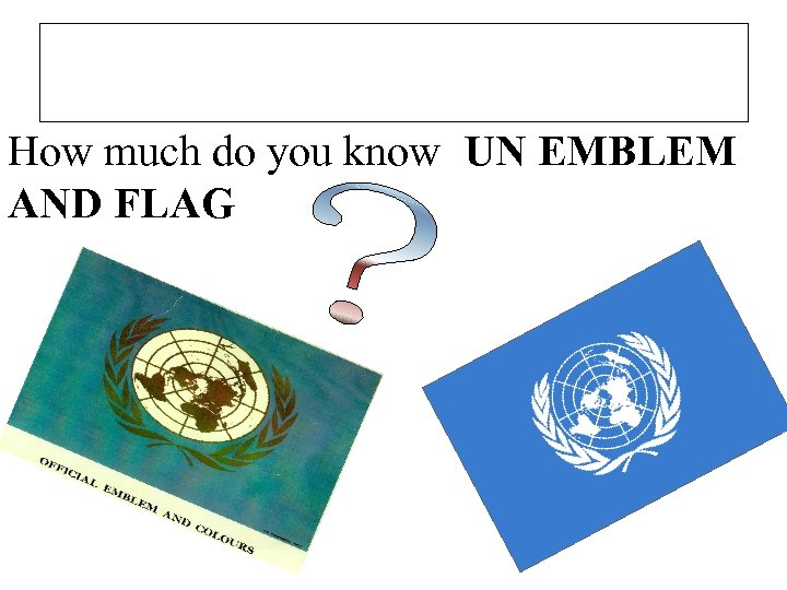 How much do you know UN EMBLEM AND FLAG