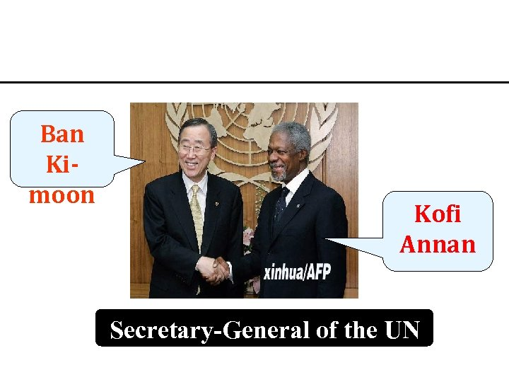 Ban Kimoon Kofi Annan Secretary-General of the UN