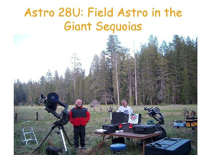 Astro 28 U: Field Astro in the Giant Sequoias