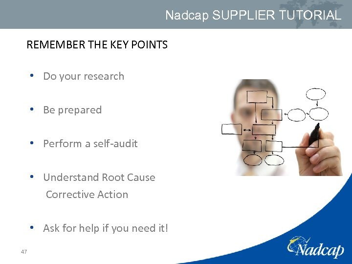 Nadcap SUPPLIER TUTORIAL REMEMBER THE KEY POINTS • Do your research • Be prepared