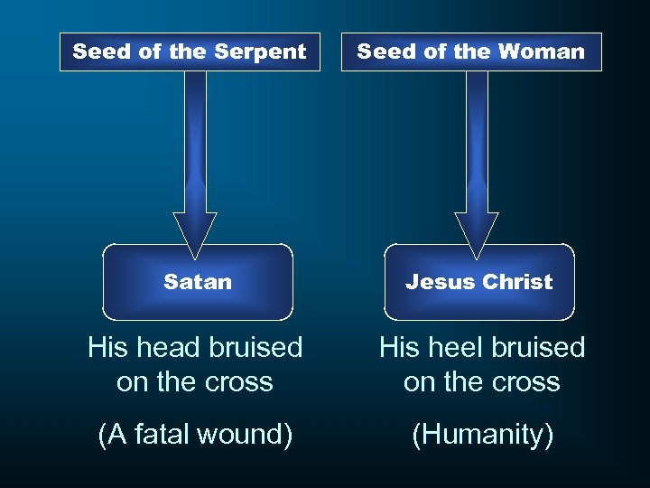 Seed of the Serpent Seed of the Woman Satan Jesus Christ His head bruised