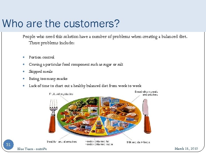 Who are the customers? People who need this solution have a number of problems