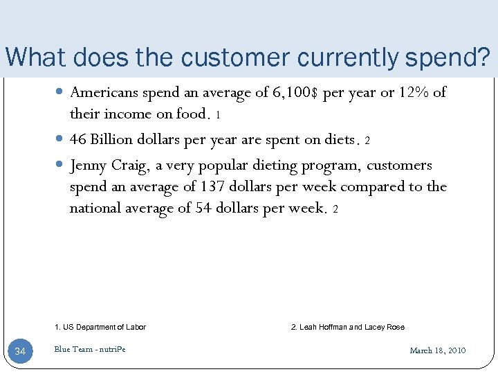 What does the customer currently spend? Americans spend an average of 6, 100$ per