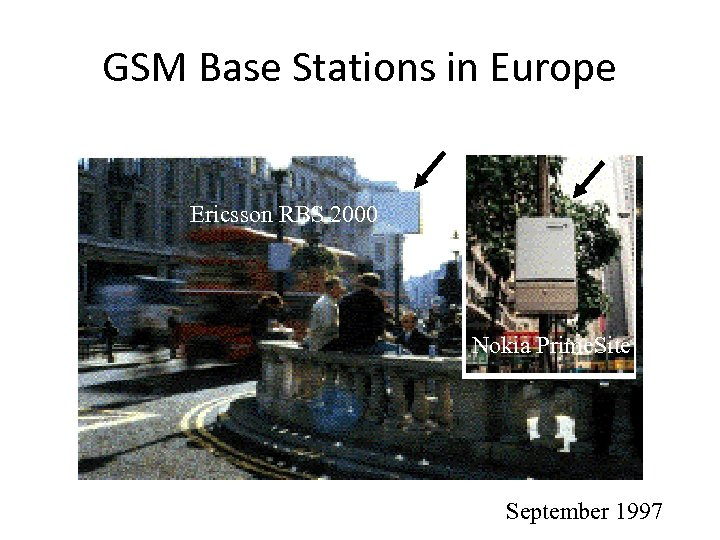 GSM Base Stations in Europe Ericsson RBS 2000 Nokia Prime. Site September 1997