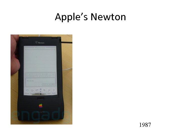Apple's Newton 1987