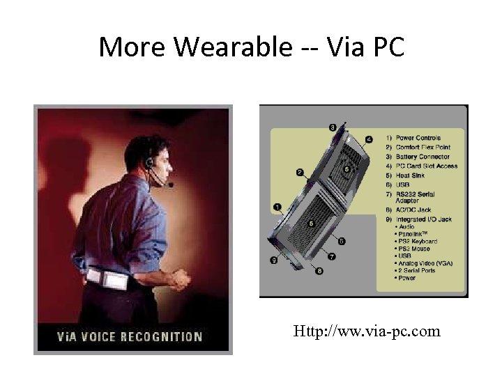 More Wearable -- Via PC Http: //ww. via-pc. com