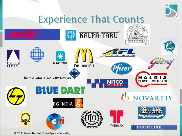 Experience That Counts © 2011, Aneeta Madhok, Open Spaces Consulting