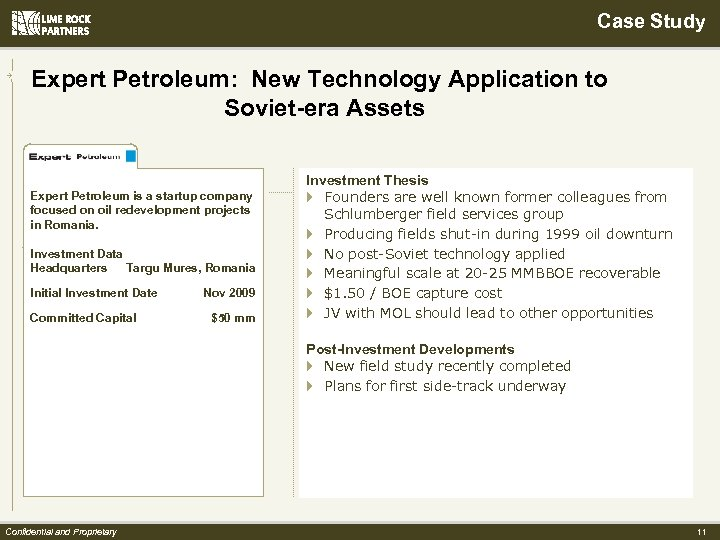 Case Study Expert Petroleum: New Technology Application to Soviet-era Assets Expert Petroleum is a