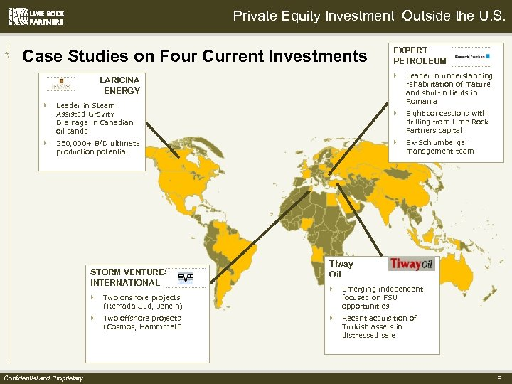 Private Equity Investment Outside the U. S. Case Studies on Four Current Investments }