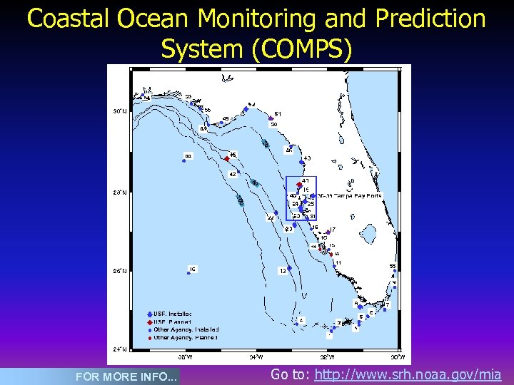Coastal Ocean Monitoring and Prediction System (COMPS) FOR MORE INFO. . . Go to:
