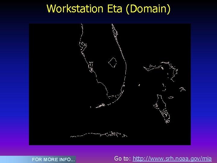 Workstation Eta (Domain) FOR MORE INFO. . . Go to: http: //www. srh. noaa.