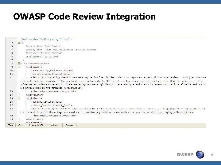 OWASP Code Review Integration OWASP 6