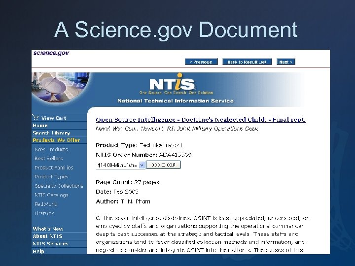 A Science. gov Document