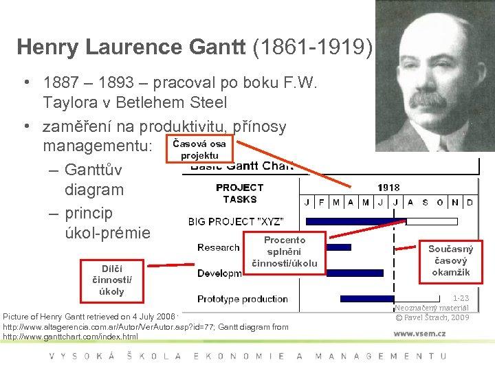 Henry Laurence Gantt (1861 -1919) • 1887 – 1893 – pracoval po boku F.