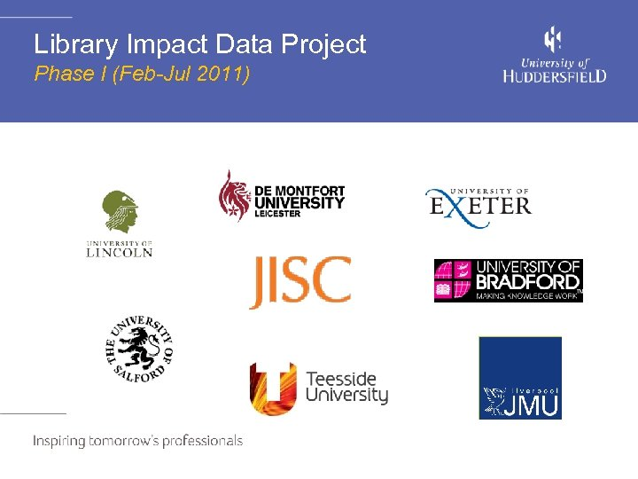 Library Impact Data Project Phase I (Feb-Jul 2011)