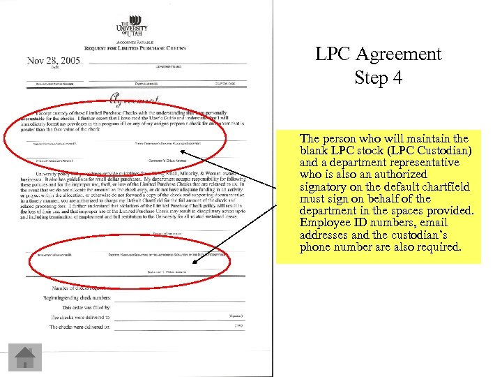 LPC Agreement Step 4 The person who will maintain the blank LPC stock (LPC